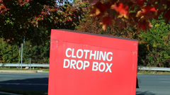 Clothing Drop Box Stock Footage