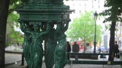 Close-Up of Paris Fountain Stock Footage