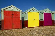 Stock Photo of Brighton beach huts