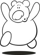 Stock Illustration of Teddy bear for coloring book