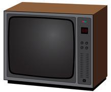 old tv - stock illustration