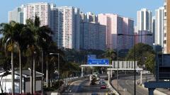 Hong Kong high-rise building Apartment China Asia Stock Footage
