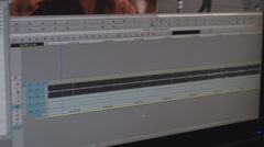Video Editing Software Going Through The Timeline Frame By Frame - stock footage