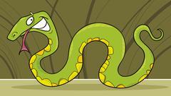 Stock Illustration of green snake