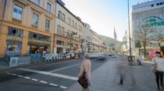 Heidelberg Karlsplatz Timelapse Stock Footage