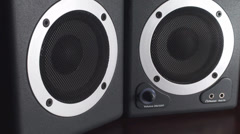 Bass Test Of Studio Speakers  Stock Footage