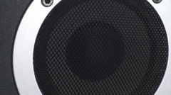 Bass Test Close Up Of A Studio Speaker Stock Footage