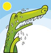 Stock Illustration of Crying crocodile