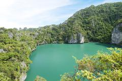 Landscape of angthong national marine park koh samui Stock Photos