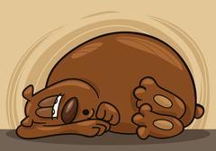 Sleepy bear Stock Illustration