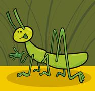 funny grasshopper - stock illustration