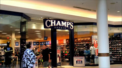 Stock Video Footage of Champs Sporting Goods storefront