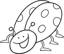 Stock Illustration of funny ladybug for coloring book