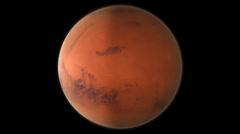 Orbit round the planet Mars. Stock Footage