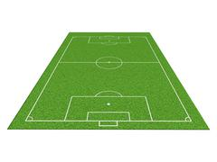 Soccer or football field isolate on white background Stock Photos