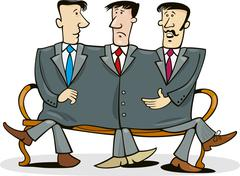 Stock Illustration of Company partners