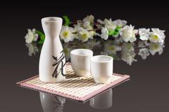 sake - a traditional japanese alcoholic beverage - stock photo