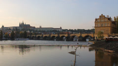 Sunset in Prague - stock footage