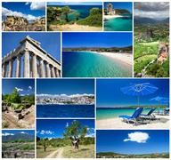 Collage of greece Stock Illustration