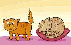 Stock Illustration of Cute little Cats
