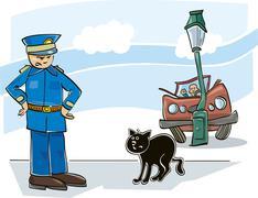 Black cat curse Stock Illustration