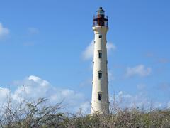 California lighthouse, aruba, abc islands Stock Photos