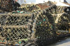 Lobster and crab pots - stock photo