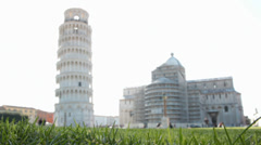 Blurred leaning tower at duomo square Pisa ,ItalyMVI 1409 is Stock Footage