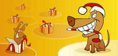 Stock Illustration of Christmas dogs