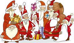 Stock Illustration of Santa claus group