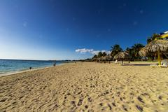 Cuban beach Stock Photos