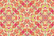 Stock Illustration of multicolored ornament swirls
