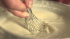 Stock video Footage cooking meringue - stock footage