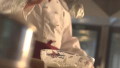 Stock video Footage whipping cream panicle - stock footage