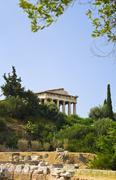 Ancient Agora at Athens, Greece - stock photo