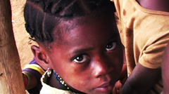 Stock Video Footage of 0868 Into the Eyes of an African Child