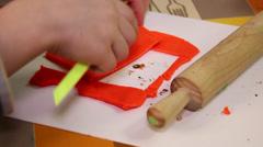 Child plasticine modeling 4 Stock Footage