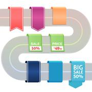 Set of colored label stickers Stock Illustration