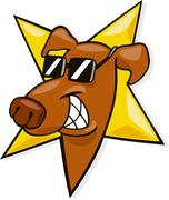 Dog star - stock illustration