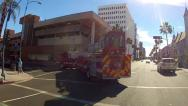 Stock Video Footage of Fire Truck In Beverly Hills California Shopping District