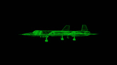 SR-71 Wireframe Stock Footage