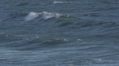 Slow Motion California Ocean Waves High Speed 240 fps Stock Footage