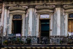 old balconery in la havana - stock photo