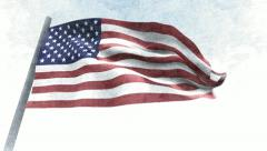 USA Flag Stock Footage