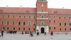 Warsaw, Poland. The Royal Palace in the Old Town. - stock footage