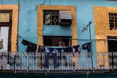 Old balconery in la havana Stock Photos