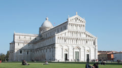 Miracles square,  duomo and baptistery in Pisa, Italy - stock footage