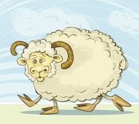 Stock Illustration of Funny ram