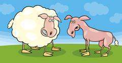 Frightened lampaita ja ajellaan yksi Piirros