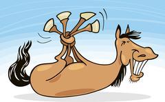 Funny horse - stock illustration